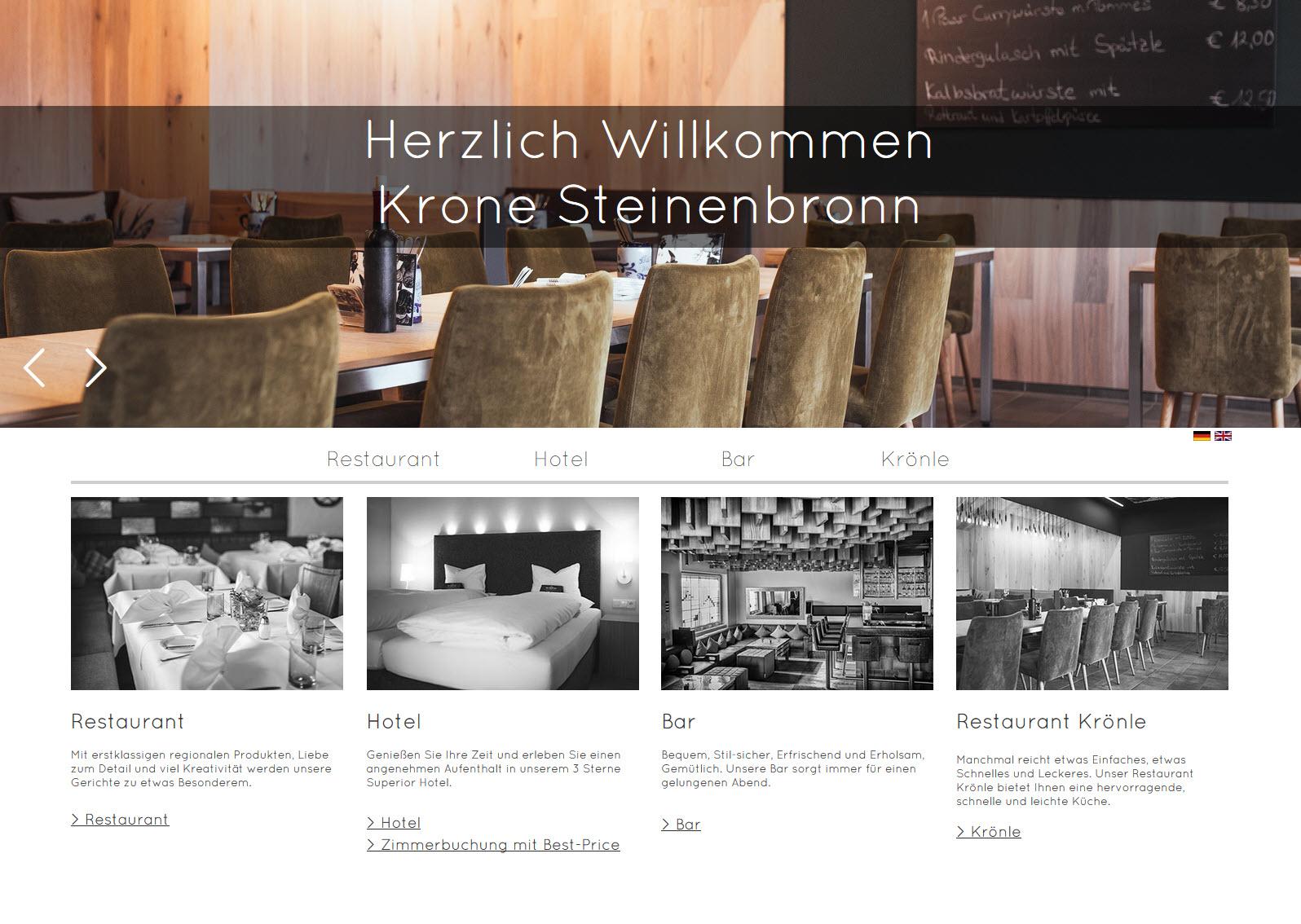 Krone Steinenbronn - Webseite