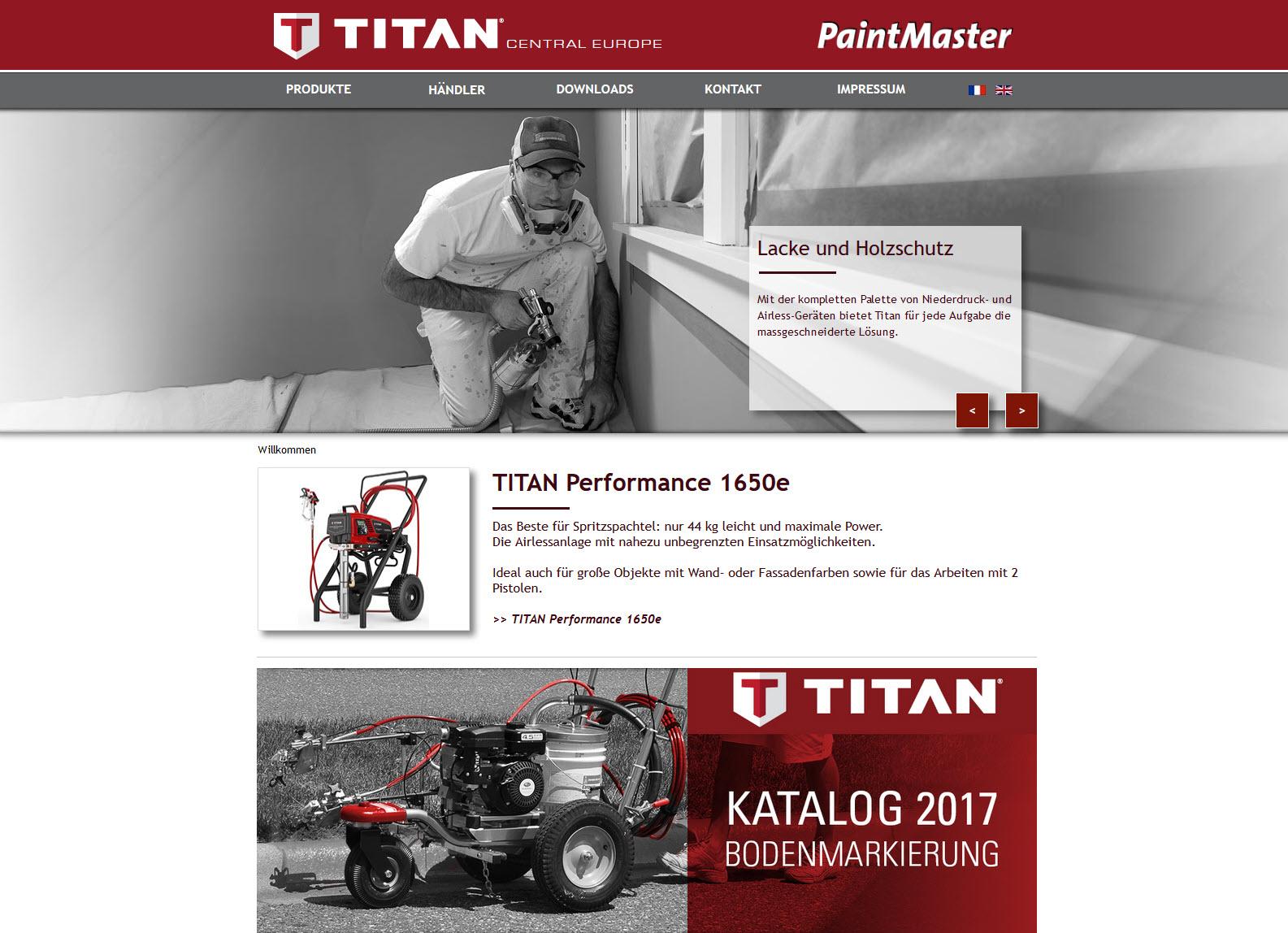TITAN Webseite