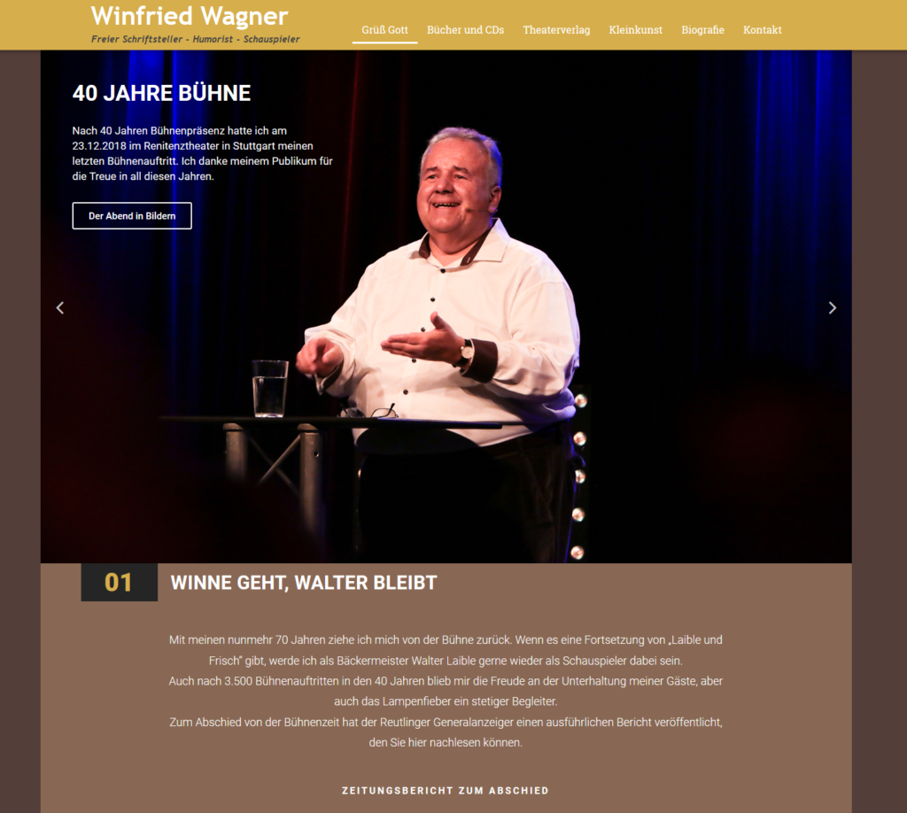 Winfried Wagners neue Webseite