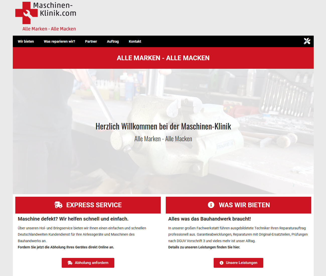 Die Maschinen-Klinik | Alle Marken - Alle Macken